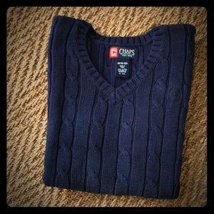 Chaps cotton knit vest, M (10-12)